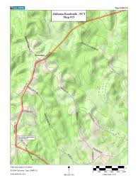 Map Alabama Alabama Roadwalk