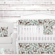 Woodland Nursery Bedding Set by Woodland Deer Baby Boy Crib Bedding