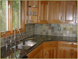 Slate Backsplash Tiles For Kitchen Tiles Backsplash Calacatta Gold Marble Tile Finished Cabinet