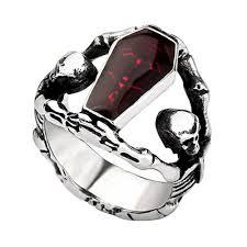 metal skeleton ring holder images Vampire skeleton silver mens ring shop online jpg