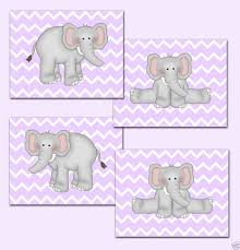 purple chevron elephant wallpaper border wall decals baby nursery