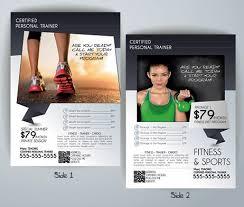 fitness flyer template personal trainer flyer template flyerforu