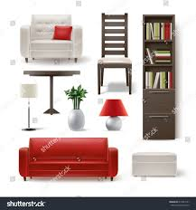 Shelving Furniture Living Room by Vector Set Living Room Furniture Brown Stock Vector 619544141