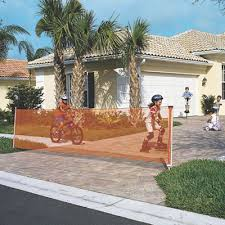 driveway safety gate keep safe outdoors kidon retractable