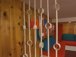 Pvc Room Divider Groovy Family Room Pvc Pipe Repurposed As A Room Divider