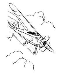 single engine propeller airplane coloring single engine