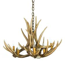 mule deer 6 antler chandelier cast horn designs
