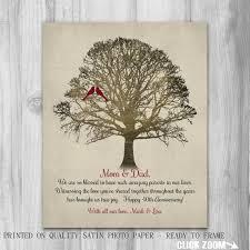 40 year anniversary gift 40th anniversary parents gift 40 years family tree