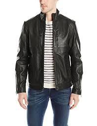 perforated leather motorcycle jacket calvin klein men s premium perforated leather moto jacket at amazon