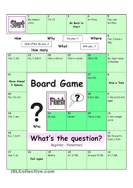 Beginner French Worksheets Board Game Whatâ S The Question Easy English For Children