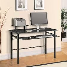 Glass Computer Desk Innovex Black Glass Computer Desk Dp1042g29