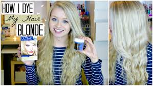 How Long To Wait Before Washing Hair After Coloring - how i dye my hair blonde using coconut oil sophdoesnails