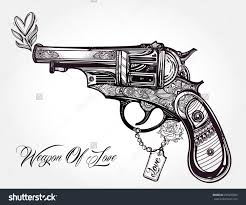 stock vector gun tattoo design photo 1 photo pictures and