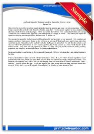 free printable authorization to release medical records cover