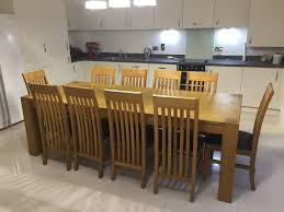 10 Chair Dining Table Set Solid Oak Extendable Dining Table With 10 Chairs In Harlow