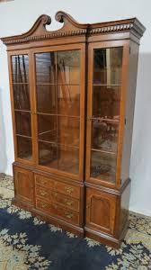 thomasville china cabinet breakfront mahogany dining room art