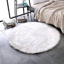 Plush Floor Rugs Amazon Com Leevan Plush Sheepskin Throw Rug Faux Fur Elegant Chic