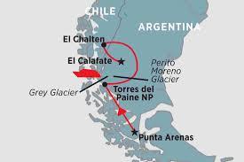 Patagonia Map Chile Tours Travel U0026 Trips Peregrine Adventures Us