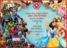 marvel superhero birthday invitations gallery invitation design