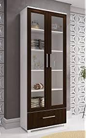 Bookcase With Lock Amazon Com Diamond Sofa Home Furniture 4 Door 5 Shelf Bookcase