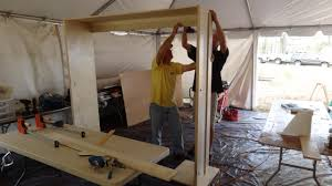 Wood For Building Bunk Beds by How To Build A Side Fold Murphy Bunk Bed How Tos Diy