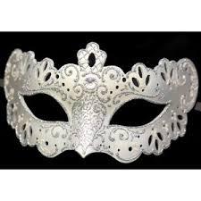 white mardi gras mask white silver farfallina sposi lace design mask toomeys m