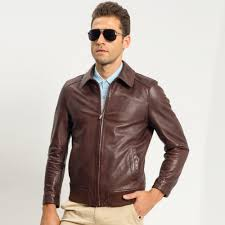 brown motorcycle jacket compare prices on dark brown leather jacket online shopping buy
