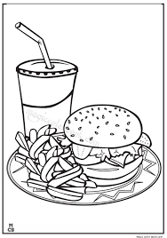 Fast Food Coloring Pages Food Color Pages