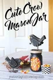 cute crow mason jar gift fun fall decor or present idea mason