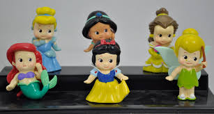 Cake Topper Princesses Snow White Cinderella Tinker Bell Little