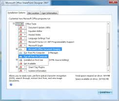 office sharepoint designer 2007 install modi for use with microsoft office 2010
