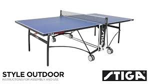 stiga advance table tennis table assembly style outdoor assembly instructions youtube