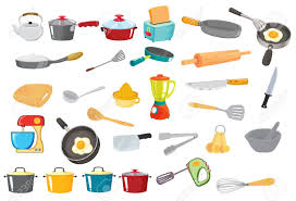 illustration of various utensils on a white royalty free cliparts