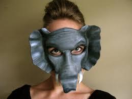 elephant leather mask child or sizes elephant mask