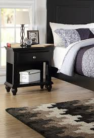 Black Wood Nightstand Poundex F4359 Black Wood Nightstand F4359