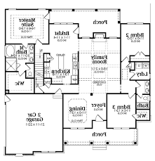 Floor Plan Of Two Bedroom House Enchanting 3 Bedroom Rambler Floor Plans With Country Style House