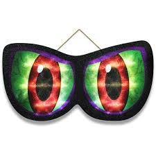 animated lighted eyes monster halloween decoration walmart com