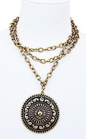 gold medallion necklace images Maya antique gold medallion necklace the coral cactus boutique JPG