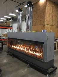 two sided gas fireplace binhminh decoration