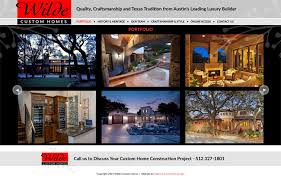 Custom Home Builder Online 2015 Luxury Austin Home Builder Completes Website Redesign
