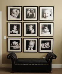 ideas for displaying pictures on walls always wanted to do this with photos from peyton s 1st birthday