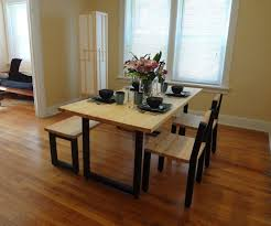 Floor Dining Table Steel And 2x4 Full Dining Table Set 9 Steps With Pictures