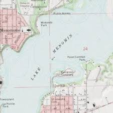 topo maps wisconsin lake menomin dunn county wisconsin reservoir menomonie