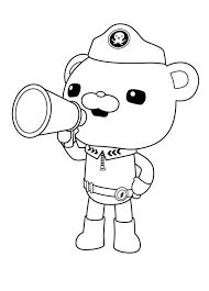 captain barnacles octonauts megafon coloring