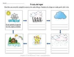 Water Cycle Worksheet Pdf Water Cycle Worksheet El Ciclo Agua By Vero Dumont