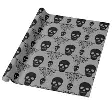 skull wrapping paper dead damask chic sugar skulls wrapping paper zazzle