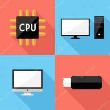 flat design flat design cpu icons stock vector iconflat 80619520