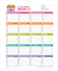 printable household shopping list printable shopping list 10 exles in pdf word