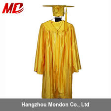 buy graduation cap kindergarten graduation cap and gown shiny gold buy kindergarten