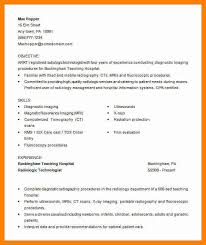Radiology Tech Resume Free Medical Resume Templates Resume Template And Professional